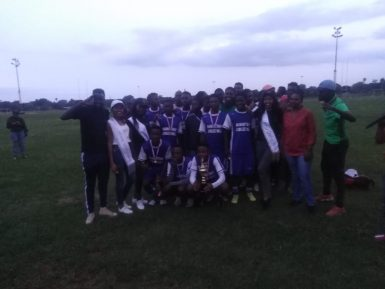 Gezina under 17 teams after their victory over the Gunners under team
